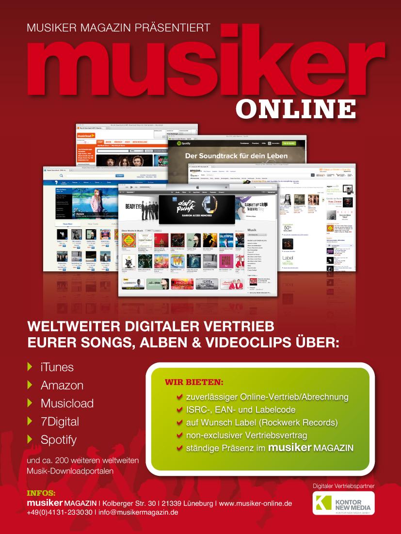 Musiker Online Vertrieb