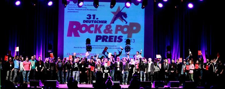31. Deutscher Rock & Pop Preis 2013 - Gewinner - Foto: Ludwig Czapla